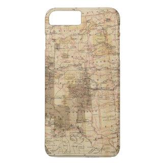 Carte du progrès 1878 des enquêtes géographiques 2 coque iPhone 8 plus/7 plus
