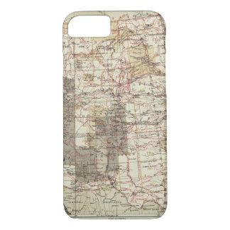 Carte du progrès 1878 des enquêtes géographiques coque iPhone 7