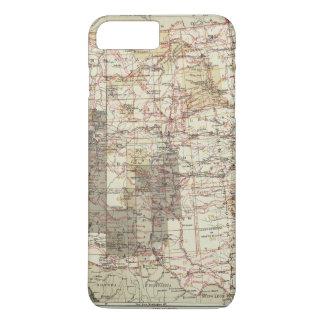 Carte du progrès 1878 des enquêtes géographiques coque iPhone 8 plus/7 plus