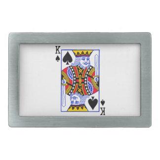 Carte du Roi jeu Boucle De Ceinture Rectangulaire