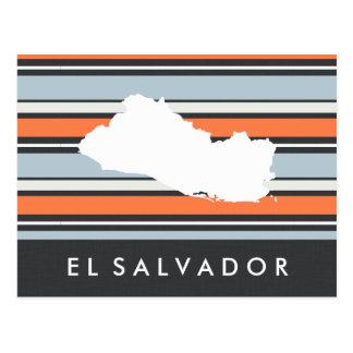 Carte du Salvador : Rayures modernes