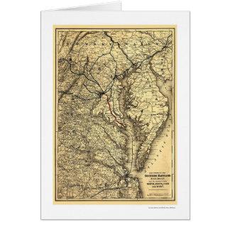 Carte du sud 1881 de chemin de fer du Maryland