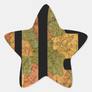Carte du Tennessee 1832 Sticker Étoile
