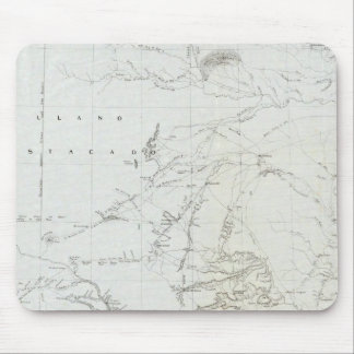 Carte du Texas et région du Nouveau Mexique Tapis De Souris