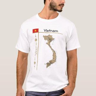 Carte du Vietnam + Drapeau + T-shirt de titre