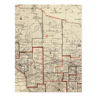 Carte du Wisconsin