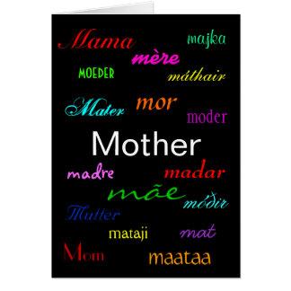 """""""Carte d'un jour de mère"""" Carte De Vœux"""