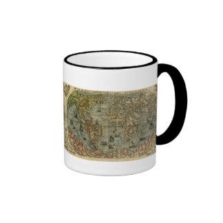 Carte d'Universale Descrittione Mug Ringer