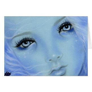 Carte d'yeux bleus de sirène
