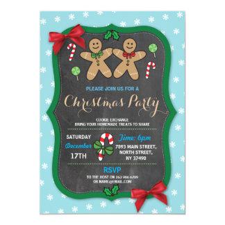 Carte Échange de biscuit de fête de Noël de pain d'épice