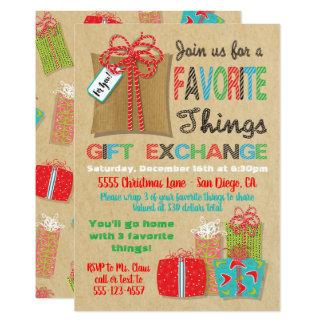 Carte Échange préféré de cadeau de Noël de choses