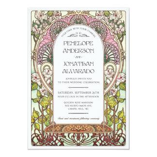 Carte Échantillon de mariage de Nouveau d'art