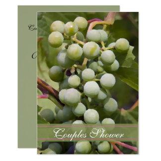 Carte Échantillon de vin vert de douche de couples de