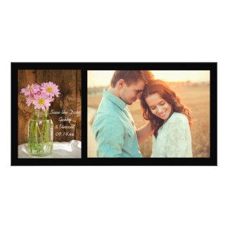 Carte Économies de mariage de grange de marguerites de