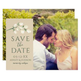 Carte Économies de photo de mariage la branche verte de