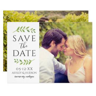 Carte Économies de photo de mariage la date | encadré