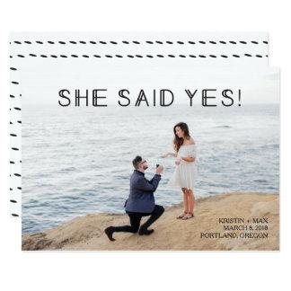 Carte Économies de photo la date - elle a dit oui !