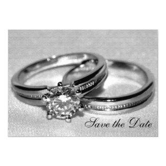 Carte Économies d'ensemble d'anneau de noces de diamant