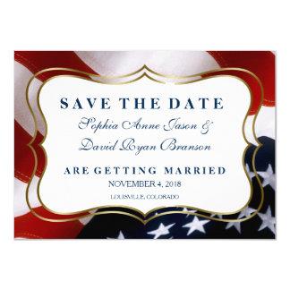 Carte Économies élégantes de mariage de drapeau des