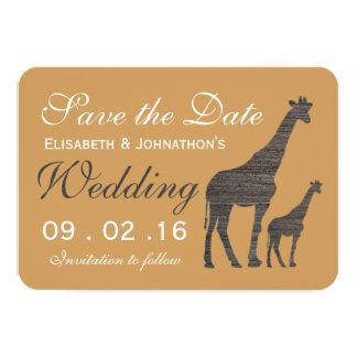 Carte Économies élégantes de mariage de girafe d'argile