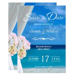 Carte Économies florales élégantes de plage d'océan la