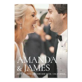 Carte Économies modernes élégantes de mariage de photo
