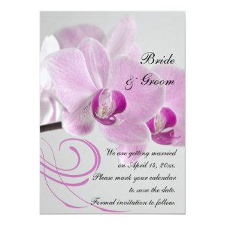 Carte Économies roses de mariage d'élégance d'orchidée