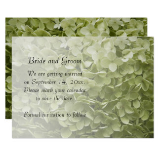 Carte Économies vertes de mariage d'hortensia
