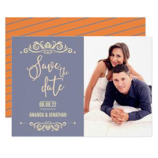 Carte Économies vintages de mariage la photo