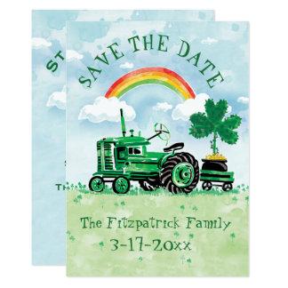 Carte Économies vintages de tracteur du jour de St