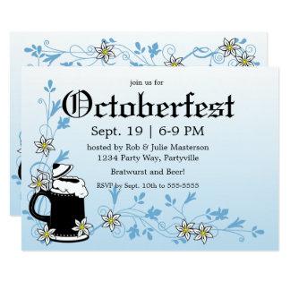 Carte Edelweiss et Stein Oktoberfest élégant