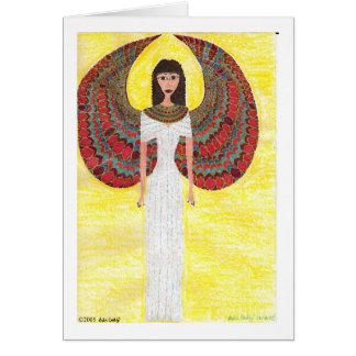 Carte égyptienne antique d'ange
