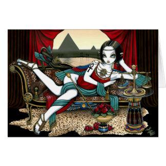 Carte égyptienne d'ange de Maat de déesse de