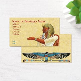 Carte égyptienne de profil d'affaires d'antiquités