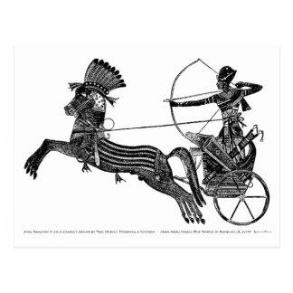 Carte égyptienne vintage d'art du Roi Ramesses II