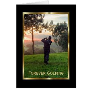 Carte élégante de condoléances pour un golfeur