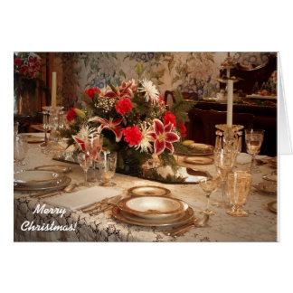 Carte élégante de dîner de Noël