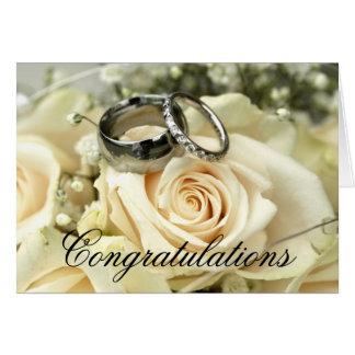 Carte élégante de félicitations de mariage
