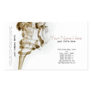 Carte élégante de fumée de danse carte de visite standard