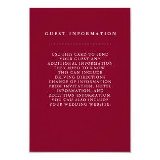 Carte élégante de l'information d'invité de