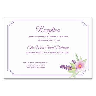 Carte élégante de réception de bouquet floral