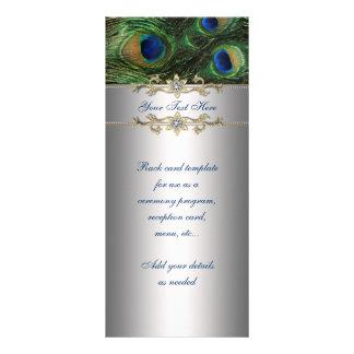 Carte élégante de support de paon de vert vert