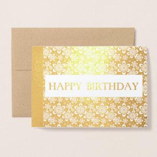 carte élégante d'or florale d'aluminium de joyeux