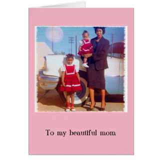 Carte élégante du jour de mère d'Afro-américain