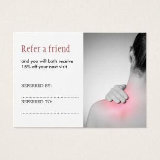 Carte élégante simple de référence de thérapeute