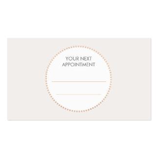 Carte élégante simple de rendez-vous de salon carte de visite standard
