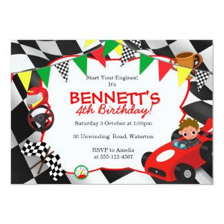 Carte Emballage d'invitations de partie de voiture de