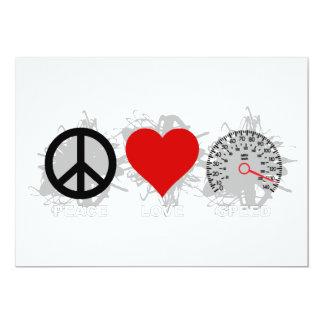Carte Emblème 3 de vitesse d'amour de paix