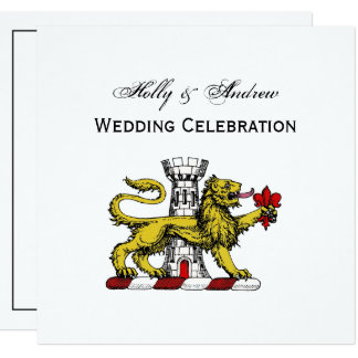 Carte Emblème C de Tower Fleur de Lis Crest de lion