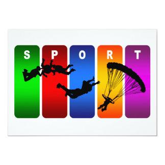 Carte Emblème de parachutage multicolore